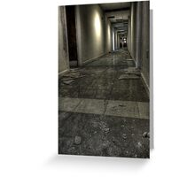 Corridor to knowledge Greeting Card