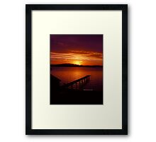 Tasmanian Sunsets No. 10 Framed Print