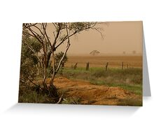 Mallee Dust - Red Cliffs, Vic Greeting Card