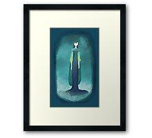 Blue Mist Lady Framed Print