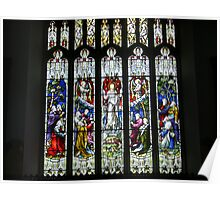 Stained Glass, Hawkshead Church Poster