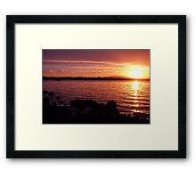 Tasmanian Sunset No. 8 Framed Print