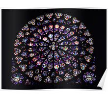 Rose Window Notre Dame Poster