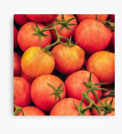 Impressionist Accent Art - Heirloom Tomatoes Canvas Print