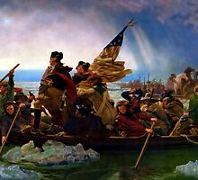 Washington Crossing The Delaware River by BritishYank