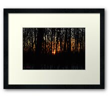 Waking up the Sun :) Framed Print