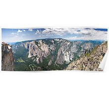 Yosemite Valley From Taft Point Poster