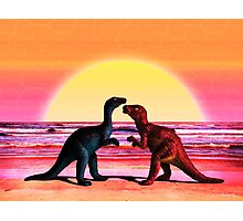 Dino Love Photographic Print