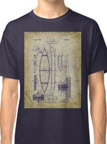 1929 Canoe Construction Patent Art Classic T-Shirt
