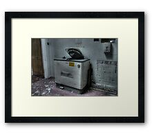 Bed Pan Disposal Framed Print
