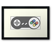 Retro Super Nintendo Controller Framed Print