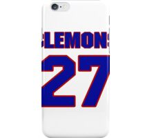 National football player Topper Clemons jersey 27 iPhone Case/Skin