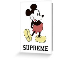 Classic Supreme Mickey Mouse Greeting Card