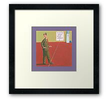fine line between genius and madness Framed Print