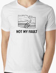 Not My Fault Mens V-Neck T-Shirt