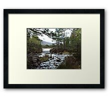 Stream running out of Loch an Eilean Framed Print