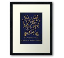 Stonecutters Framed Print