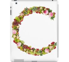Capital Letter C Part of a set of letters, Numbers and symbols  iPad Case/Skin