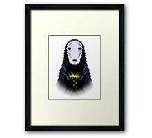 Trixel No Face Framed Print