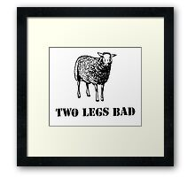 Two Legs Bad Sheep Framed Print