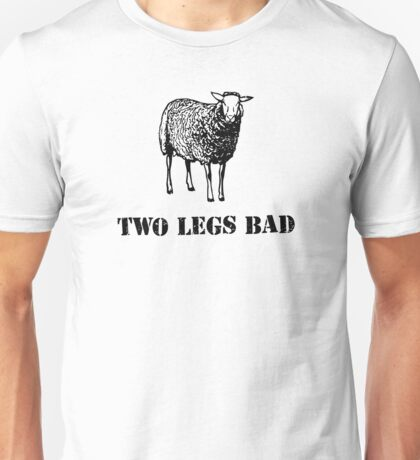 Two Legs Bad Sheep Unisex T-Shirt
