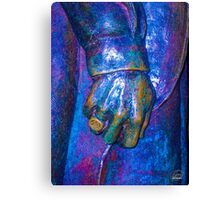 Stevie Ray Vaghan Statue - Alcoholics Anonymous Ring Canvas Print