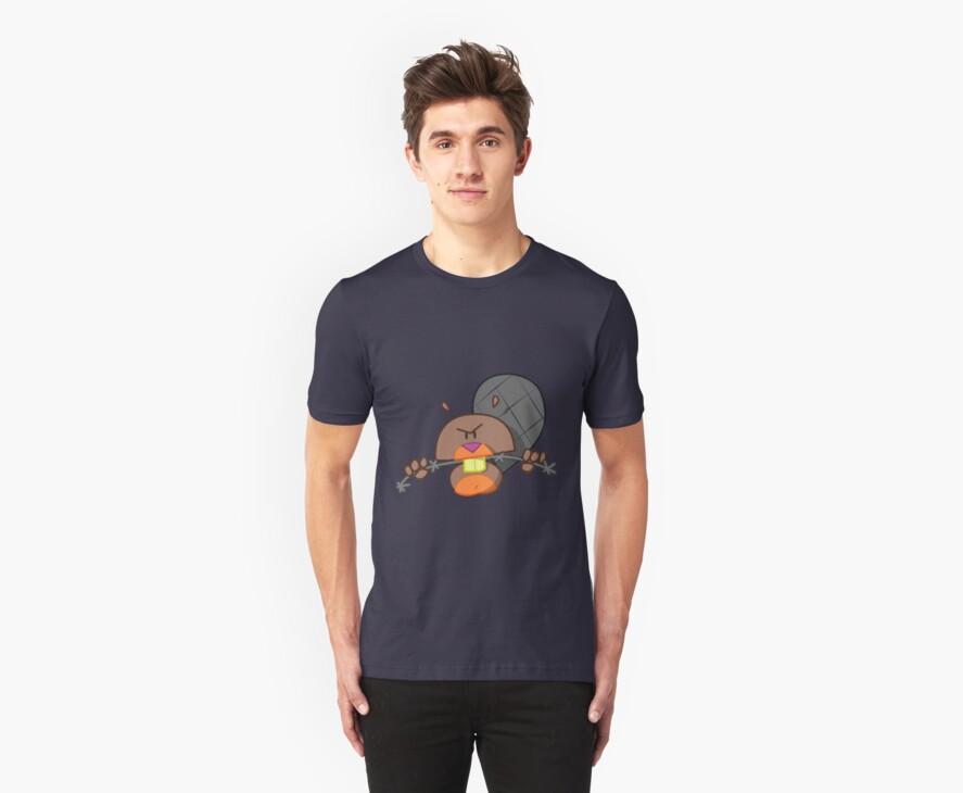 Evil Beaver T-shirt by StudioColrouphobia
