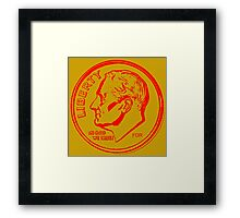 FDR-DIME RED Framed Print