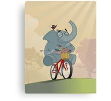 Mr. Elephant & Mr. Mouse Canvas Print