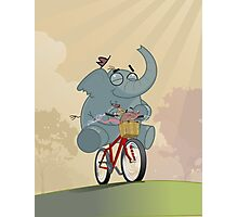 Mr. Elephant & Mr. Mouse Photographic Print