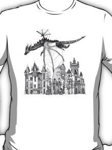 Dragon Kingdom Winter Toile blue T-Shirt