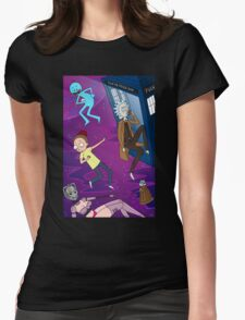 Rick and Morty - Doctor Who Mash Up!  Womens Fitted T-Shirt