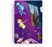 Rick and Morty - Doctor Who Mash Up!  Canvas Print