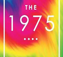 The 1975 — White Logo on Rainbow  by Ffion Thomas