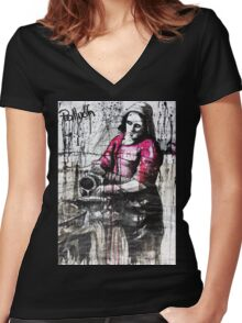 milk woman Women's Fitted V-Neck T-Shirt