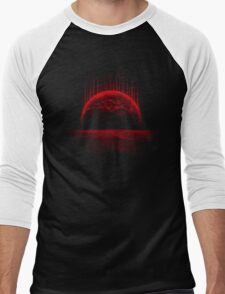 Lost Home! Colosal Future Sci-Fi Deep Space Scene in diabolic Red Men's Baseball ¾ T-Shirt