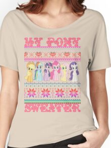 My Pony christmas sweater Women's Relaxed Fit T-Shirt