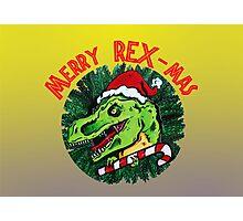Merry Rex-Mas Photographic Print
