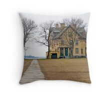 Barracks Home on Bay Throw Pillow