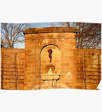 Fountain Sculpture Poster