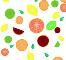 Colorful citrus background (White) by GottyKoby