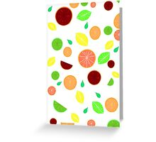 Colorful citrus background (White) Greeting Card