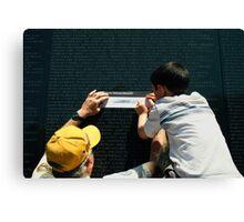 The Vietnam Wall III Canvas Print