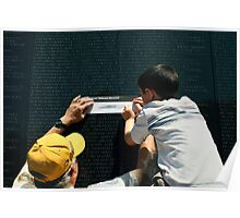 The Vietnam Wall III Poster
