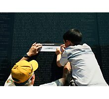 The Vietnam Wall III Photographic Print