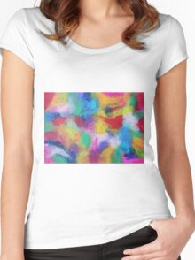 """""""In a Dream No.2"""" original abstract artwork by Laura Tozer Women's Fitted Scoop T-Shirt"""