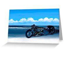 2 of Honda Drag Bike. Greeting Card