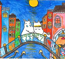 Moomin Love in Venice by adrawndisorder