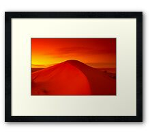 Dawn on Big Red - Simpson Desert Framed Print