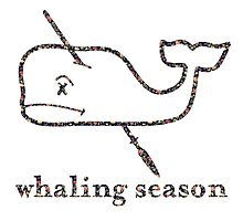 Whaling Season: Vineyard Vines Sucks Floral Logo by bigjoeymastro